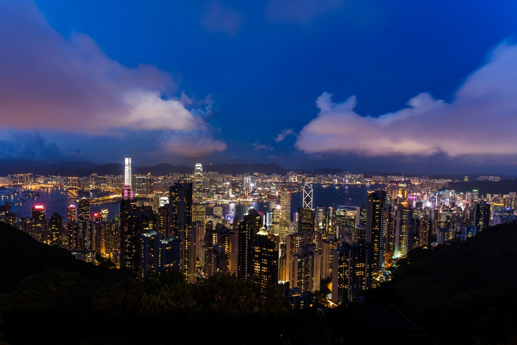 Stunning Hong Kong night view