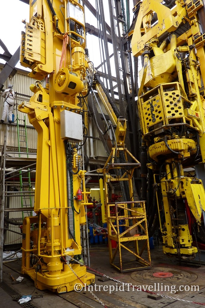 Drilling Equipment On An Offshore Jackup Drilling Rig